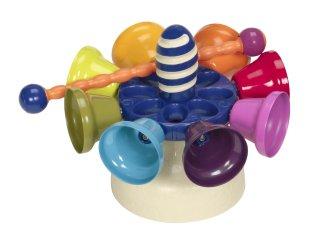 Csengettyűs pörgettyű (B.Toys, piccolo carousel bells, különleges harangos hangszer, 1-5 év)