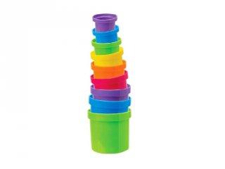Csepegő poharak, fürdőjáték, pancsoló játék (9 db)