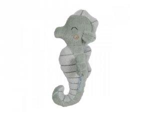 Csikóhal alakú plüss csörgő menta, Little Dutch babajáték (4823, 0-2 év)