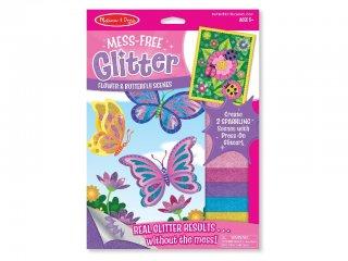 Csillám katicás, pillangós satírozó játék (MD9511, kreatív játék, 3-9 év)