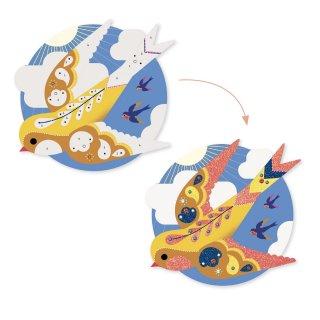 Csillámkép készítő Édeni madarak, Djeco kreatív készlet - 9522 (6-10 év)