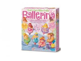 Csillogó balerina gipszkiöntő készlet, kreatív játék (3-6 év)