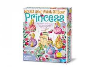 Csillogó hercegnő gipszkiöntő készlet, kreatív játék (5-10 év)