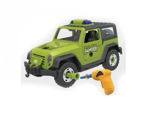 Csináld magad összeszerelhető terepjáró zöld színben, 57 db-os kreatív szett (3-7 év)