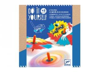 Csináld magad! Színkeverő pörgettyű Sárkányok Djeco kreatív készlet - 7941