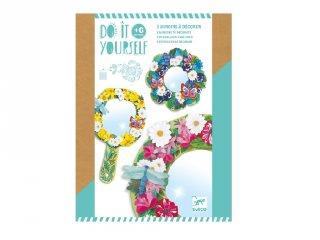 Csináld magad! Tükör díszítése virágokkal, Djeco kreatív készlet - 7908