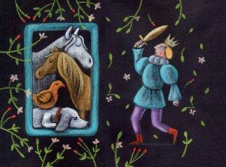 Csipkerózsika, Papírszínház mese (A Grimm fivérek nyomán)