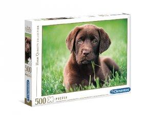 Csoki színű kölyök kutya puzzle, 500 db-os kirakó (CLEM, 8-99 év)
