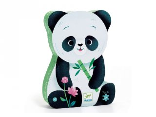 Cuki panda 24 db-os formadobozos puzzle, Djeco kirakó - 7282 (3-5 év)