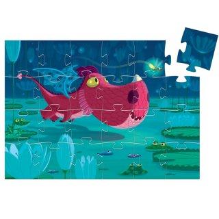 Cuki sárkány 24 db-os formadobozos puzzle, Djeco kirakó - 7214 (3-5 év)