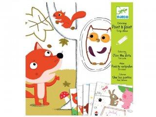 Cuki, Too cute, pontösszekötő rajzoló és színező készlet (Djeco, 9640, kreatív játék, 3-6 év)
