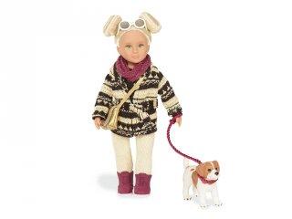 Dakota és kutyája (Our Generation, 15 cm-es játékbaba, 3-9 év)