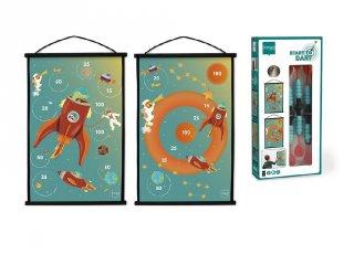 Darts kezdőkészlet Űrhajó, kétoldalas ügyességi játék (Scratch, 3-7 év)