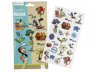 Decalco Mania, Satírozós matrica, Kalóz (Avenue Mandarine, kreatív játék, 5-12 év)