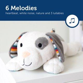 Dex zenélő, vigasztaló plüss kutya, babaszoba kiegészítő (ZA)