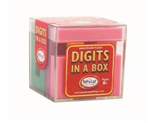 Digits in a box, Betűk a dobozban (Popular, egyszemélyes logikai játék, térbeli puzzle, 8-99 év)