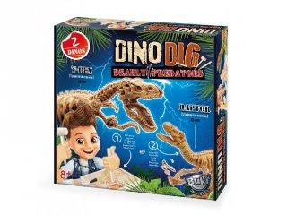 Dínó felfedező készlet, T-Rex és Velociraptor, Buki tudományos játék (8-14 év)