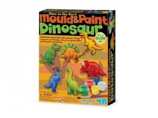 Dinoszaurusz gipszkiöntő készlet, kreatív játék (3-6 év)