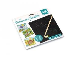 Dinoszaurusz karckép készítő szett, kreatív játék (4-8 év)