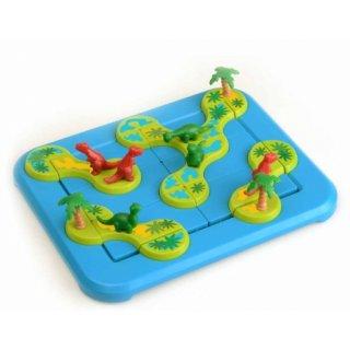 Dinoszauruszok, A rejtelmes sziget (Smart Games, logikai játék, 6-12 év)
