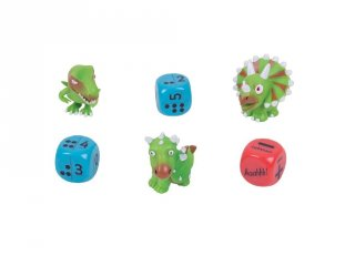 Dinoszauruszos kockajáték (Zoobookoo, matekos társasjáték, 4-6 év)