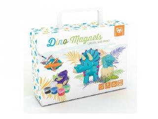 Dinoszauruszos mágneses gipszkészítő, kreatív játék (5-12 év)