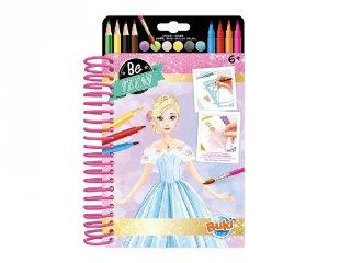 Divattervező füzet Hercegnős ruhák, Buki kreatív játék (6-12 év)