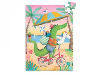 Djeco 60 db-os mini puzzle, Croco beach (7678)