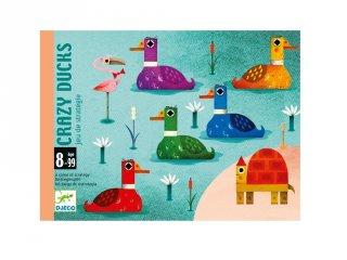 Djeco Crazy Ducks, Logi-kacsa-láb kártyajáték (5181, 8-99 év)