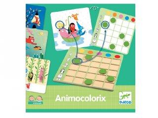 Djeco Eduludo Animo Colorix, színfelismerő logikai játék (8359, 3-6 év)
