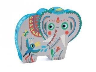 Djeco formadobozos puzzle, Ázsiai elefánt (7208, 24 db-os kirakó, 3-5 év)