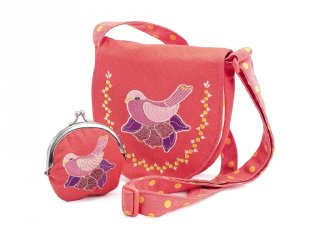 Djeco hímzett madaras táska pénztárcával (6678)