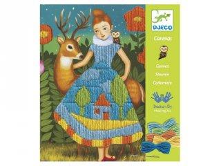 Djeco hímzős kreatív készlet, Ruha (9827, 7-13 év)