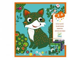 Djeco karckép készítő kreatív készlet, Állatok (9093, 3-6 év)