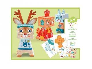Djeco matricás szoborkészítő kreatív készlet, Vicces állatok (9041, 3-6 év)