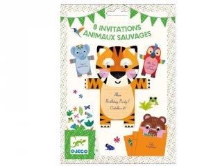 Djeco vadállatos meghívókártyák (4781)
