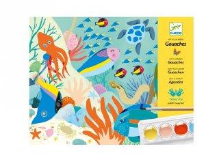 Djeco vízfestékkel festés kreatív készlet, Natural World (8965_1, 7-13 év)