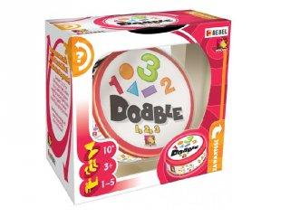 Dobble 123 (Asmodee, megfigyelés gyorsaság kártyajáték, 4-12 év)