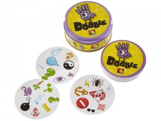 Dobble játék (Asmodee, megfigyelés gyorsaság kártyajáték, 6-12 év)