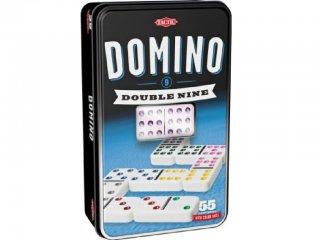 Dominó, fémdobozos (Tactic, Dupla 9-es szett, 55 db-os taktikai játék, 6-99 év)