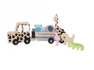 Dzsip szafari állatokkal, fa szerepjáték (Jabadabado, 2-6 év)