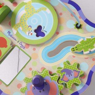 Dzsungel foglalkoztató asztal, Melissa&Doug készségfejlesztő bébi fajáték (1-3 év)