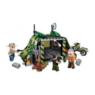 Dzsungel orvvadászok elkapása, 4 az 1-ben Lego kompatibilis építőjáték készlet (QMAN, 1919, 6-12 év)