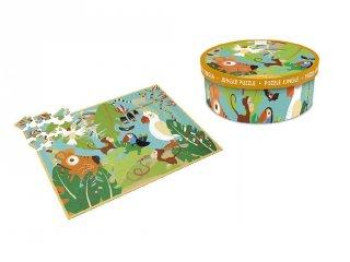 Dzsungel puzzle, 100 db-os kirakó (Scratch, 5-10 év)