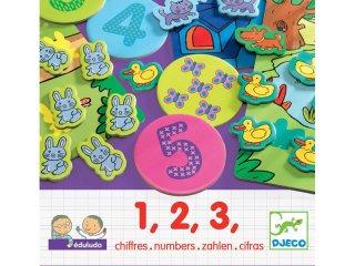 Eduludo 123, számolós társasjáték (Djeco, logikai társasjáték kisgyerekeknek, 3-6 év)