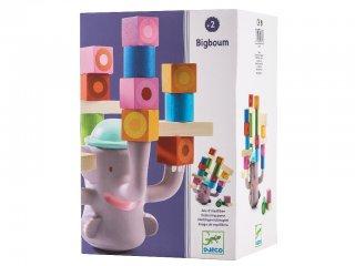 Egyensúlyfejlesztő játék, Bigboum (Djeco, 6321, elefántos ügyességi fajáték, 1-6 év)