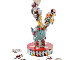 Egyensúlyozó cirkusz építőjáték (Lilliputiens, 86438, ügyességi játék, 3-8 év)