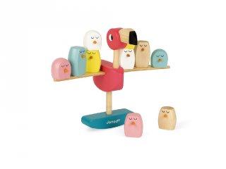 Egyensúlyozó flamingó, Janod fa készségfejlesztő játék (8230, 3-6 év)