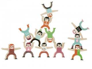 Egyensúlyozó játék, Akrobaták (Vilac, 7710, ügyességi játék, 3-5 év)