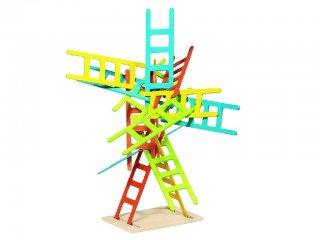 Egyensúlyozó játék, Létrák (Goki, ügyességi és stratégiai fa társasjáték, 5-7 év)
